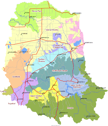 Map of the catchment